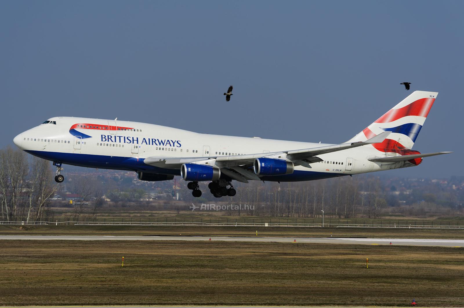 A British Airways 747-400-asa Budapesten 2014-ben. (Fotó: AIRportal.hu) | © AIRportal.hu