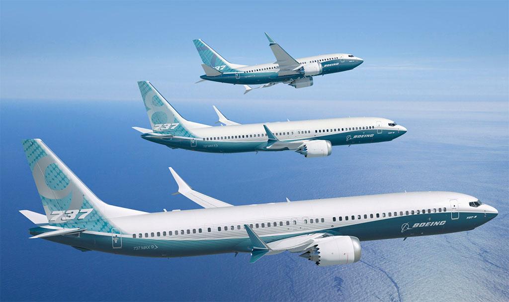 A 737 MAX típuscsalád a gyártó grafikáján, melyen még a legnagyobbnak szánt 10X verzió nem szerepel. (Forrás: Boeing Company) | © AIRportal.hu