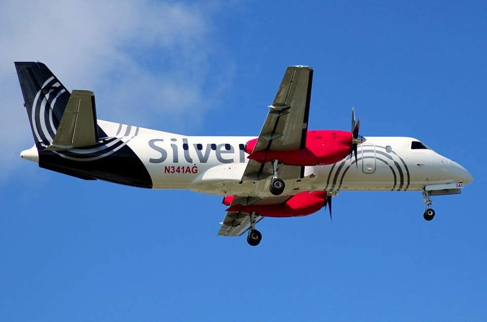 A Silver Airways Saab 340-es gépe. (Fotó: Silver Airways Facebook)   © AIRportal.hu