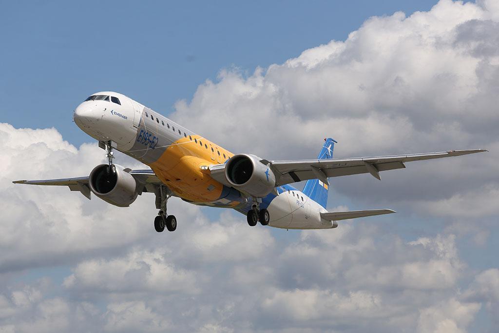 Levegőben az E195-E2. (Forrás: Embraer) | © AIRportal.hu