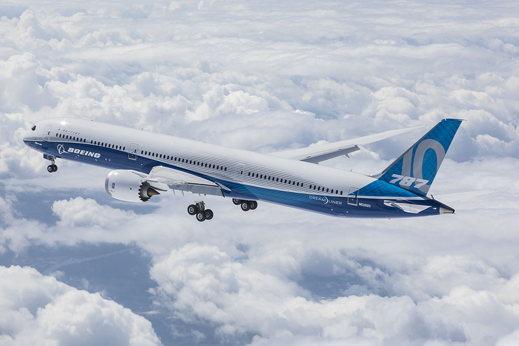 A 787-10 Dreamliner a levegőben. (Fotó: Boeing) | © AIRportal.hu