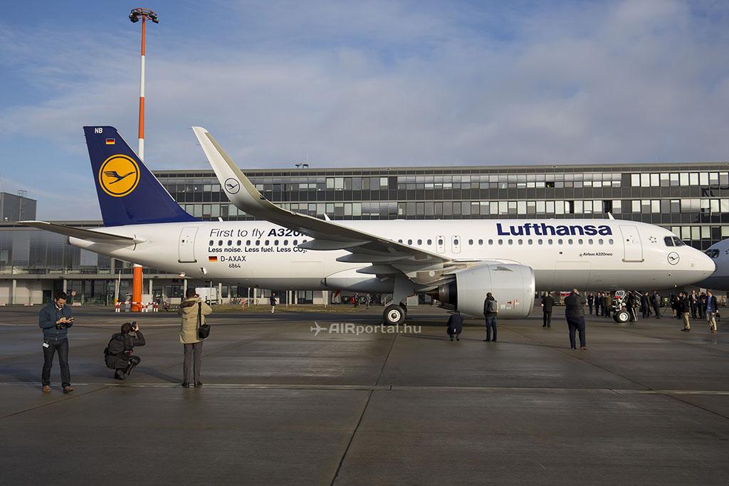 A Lufthansa első Airbus A320neója Hamburgban. (Fotó: AIRportal.hu) | © AIRportal.hu