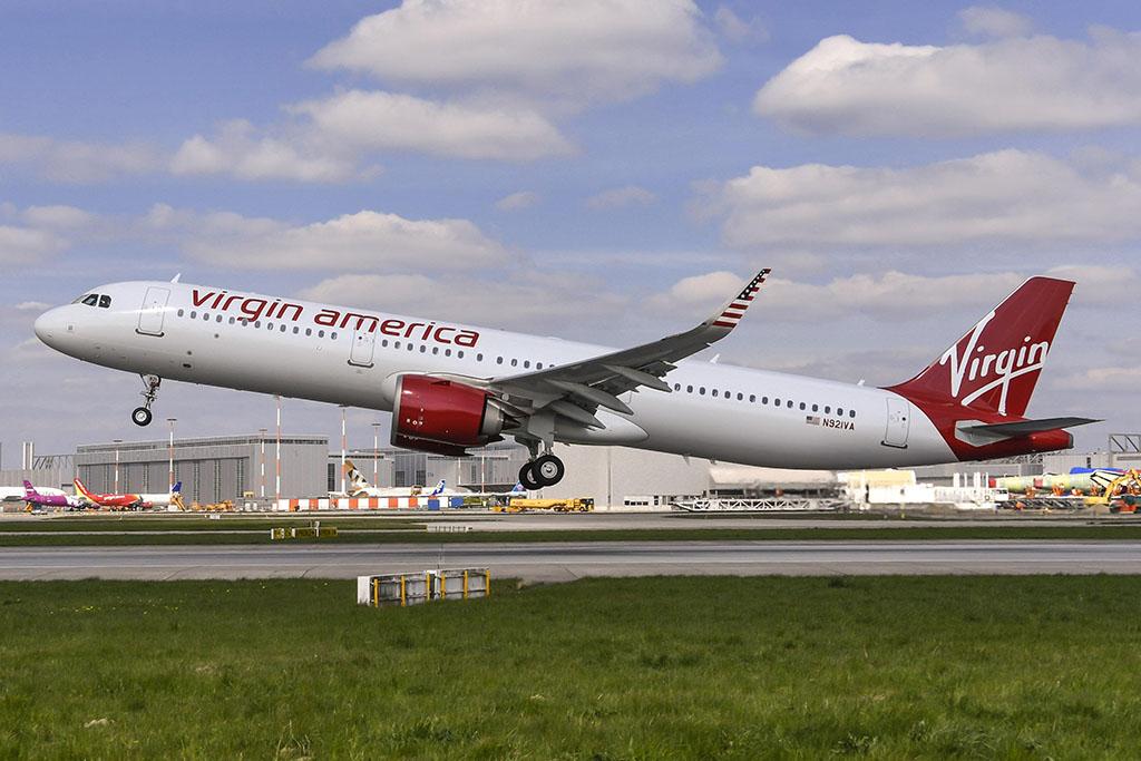 A Virgin America első A321neo repülőgépe. (Fotó: Airbus) | © AIRportal.hu