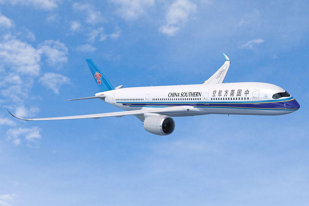 A350XWB a China Southern Airlines festésében. (Forrás: Airbus) | © AIRportal.hu