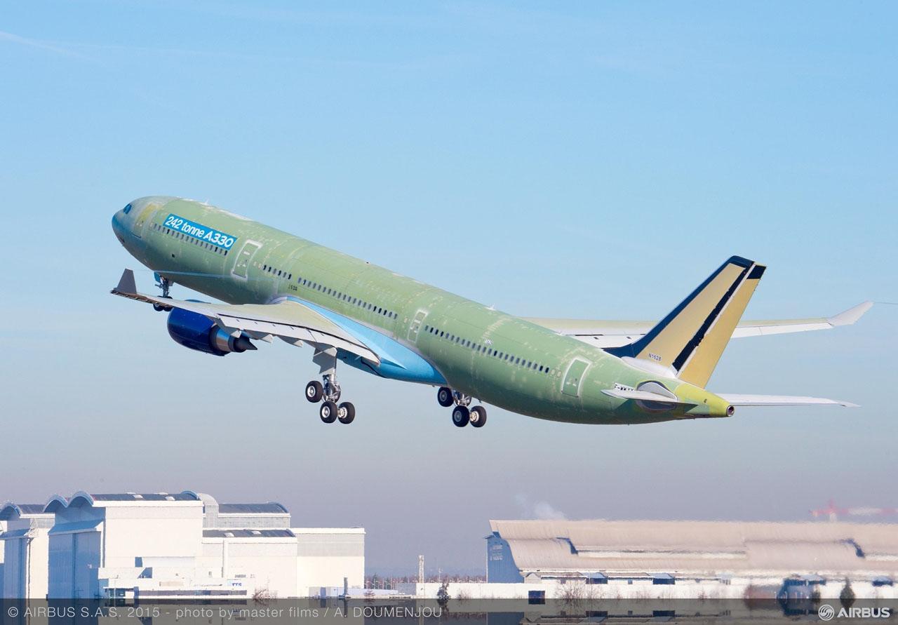 A megnövelt felszállótömegű A330-as prototípusa. (Fotó: Airbus) | © AIRportal.hu