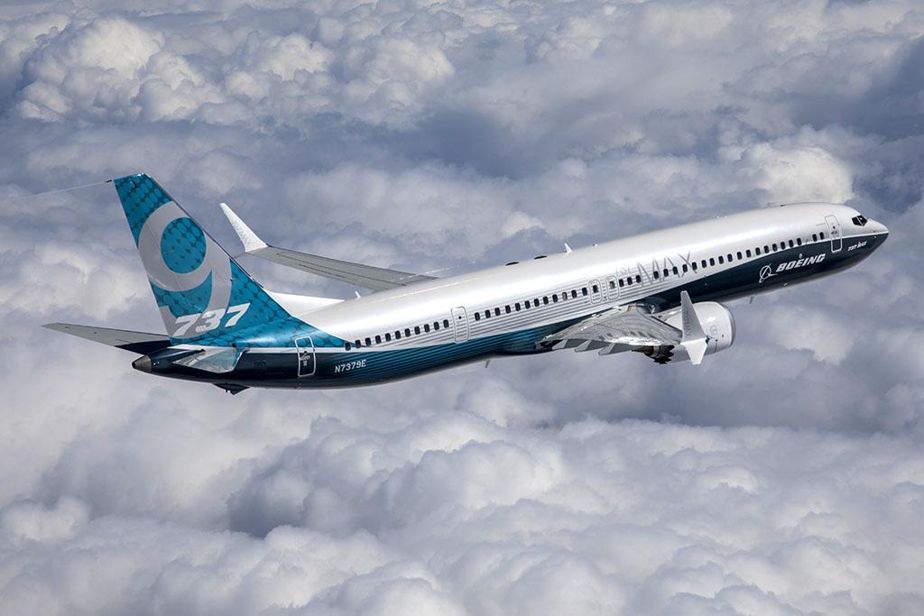 A 737 MAX 9 típus első repülésén. (Fotó: Boeing) | © AIRportal.hu