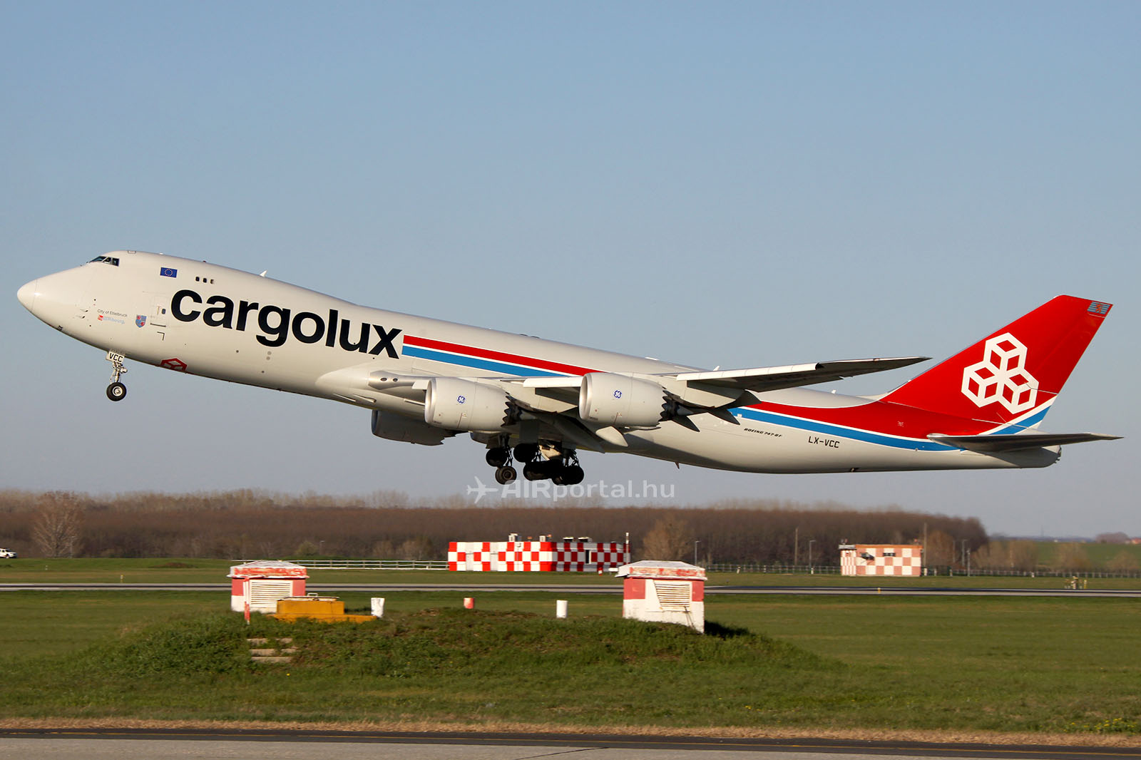 A Cargolux Boeing 747-8F típusú gépe. (Fotó: AIRportal.hu)   © AIRportal.hu