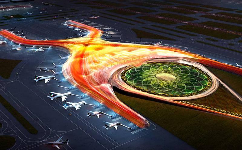 Ilyen lesz a repülőtér, ha egyszer elkészül. (Forrás: Mexico City New Airport) | © AIRportal.hu