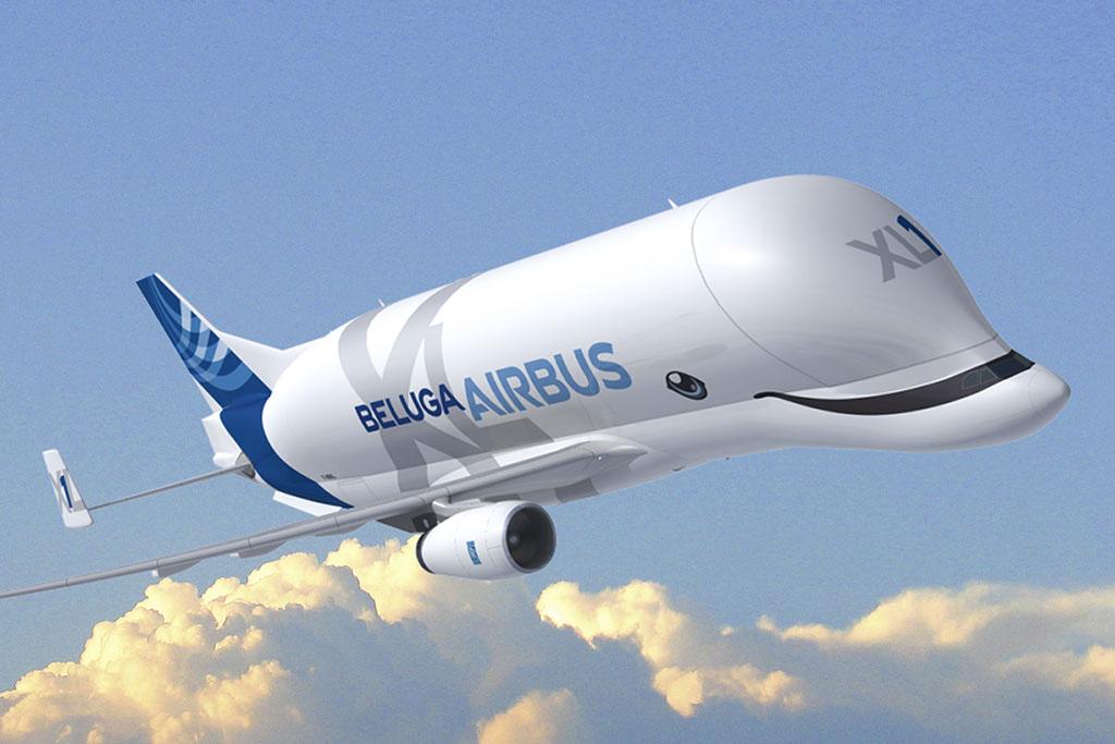 Ilyen lesz az első BelugaXL festése (Grafika: Airbus) | © AIRportal.hu