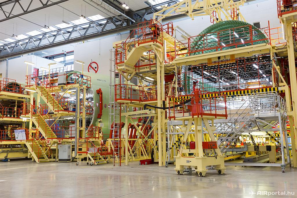 Készülnek Hamburgban az A380-as törzselemek.(Fotó: AIRportal.hu) | © AIRportal.hu