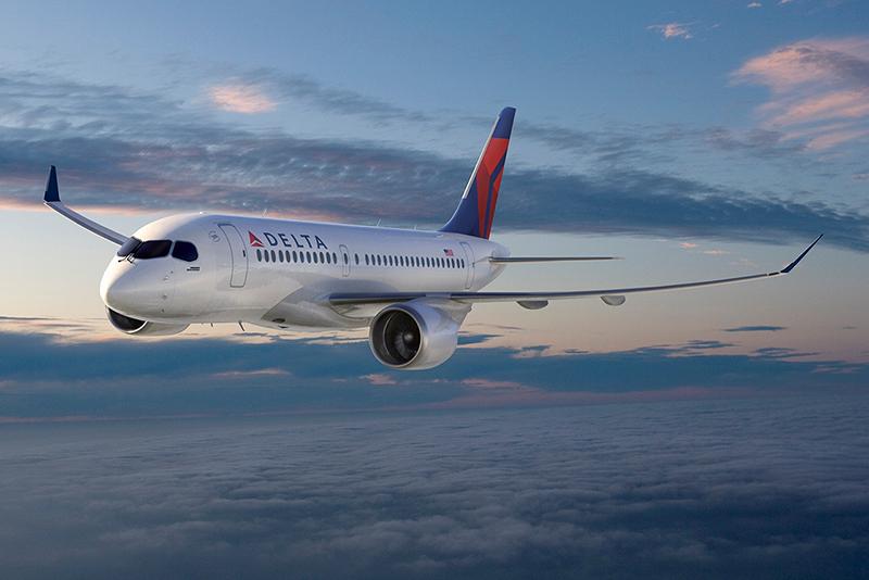 Látványrajz a Delta egyik leendő CS100-asáról, a vita kiváltó okáról (Forrás:Bombardier) | © AIRportal.hu