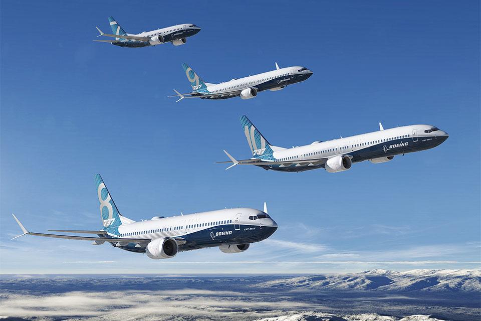 A teljes Boeing-család. Grafika: Boeing Company | © AIRportal.hu