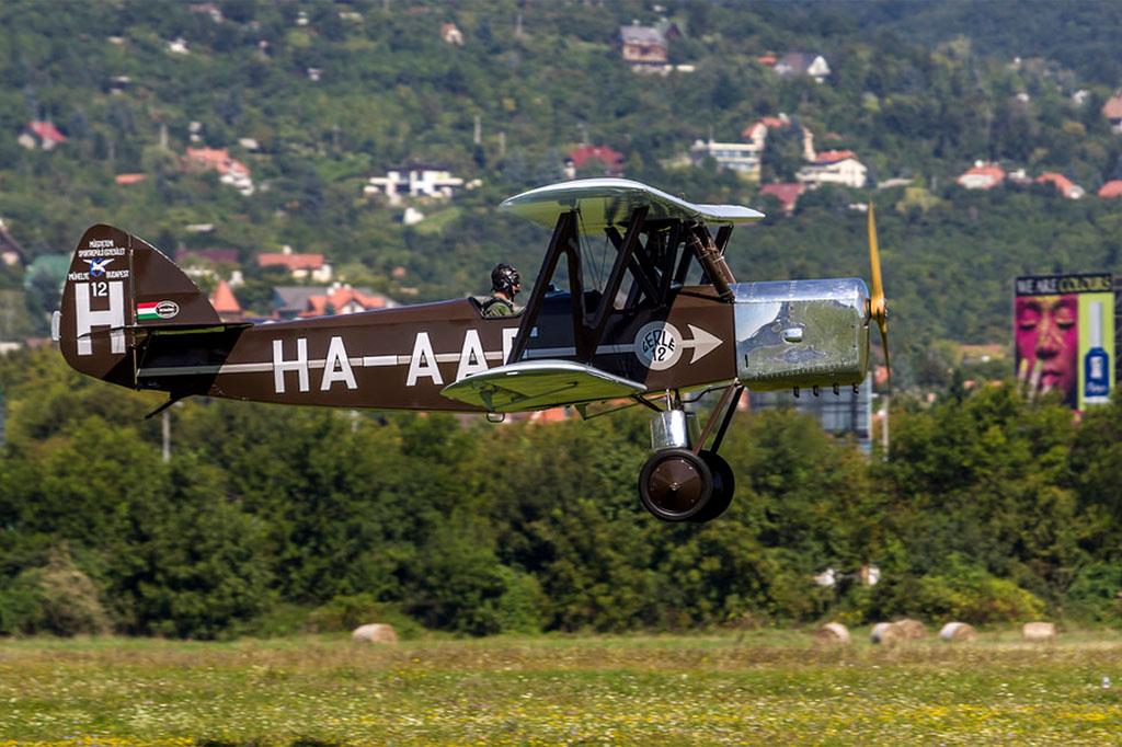 A nemrég felújított Gerle-12-es is részt vett a kötelékrepülésben. Fotó: Szigetváry Zsolt - MTI   © AIRportal.hu