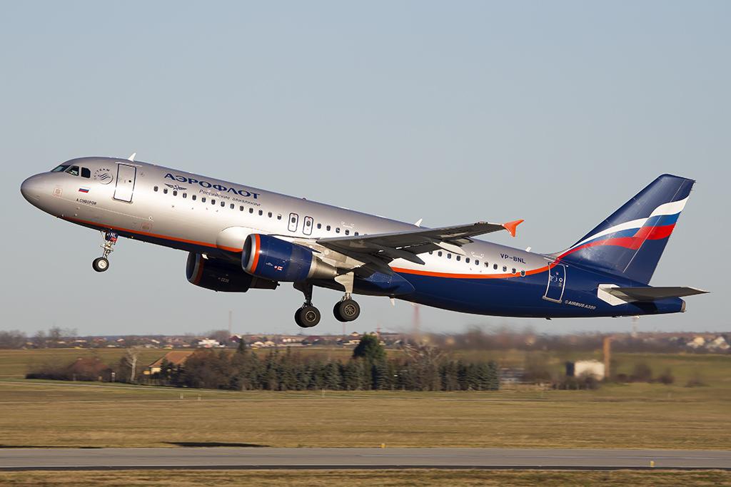 Az Aeroflot Airbus A320-as repülőgépe. (Fotó: AIRportal.hu) | © AIRportal.hu