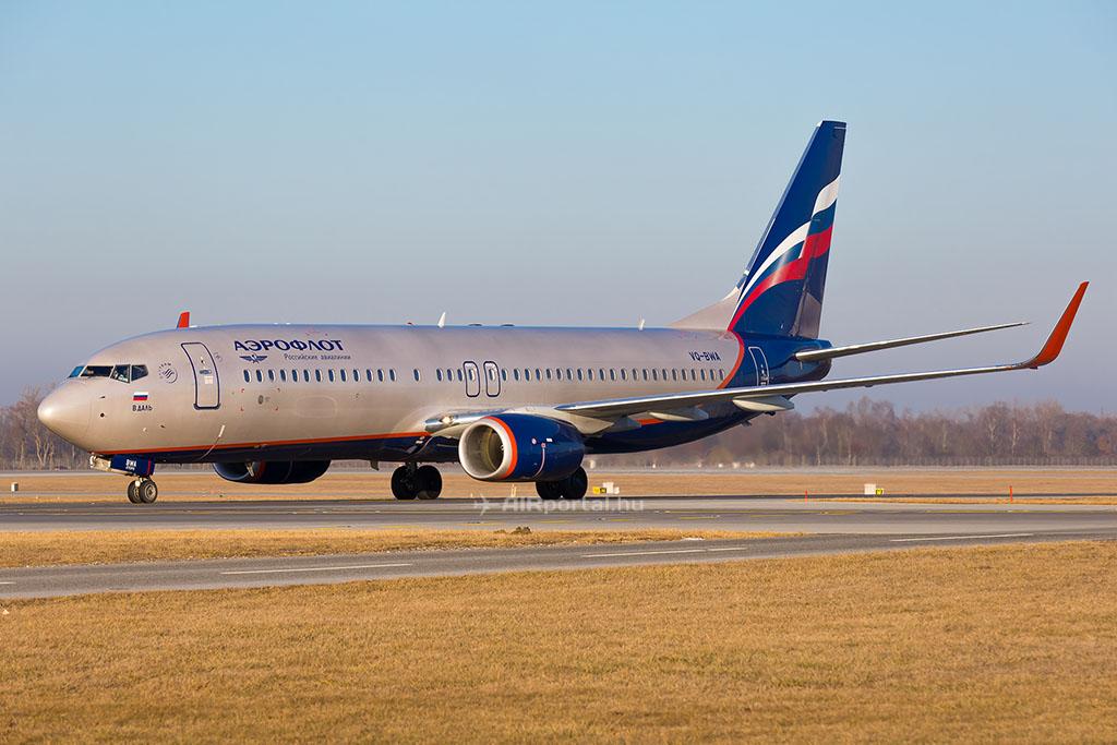Az Aeroflot Boeing 737-800-as repülőgépe. (Fotó: AIRportal.hu) | © AIRportal.hu