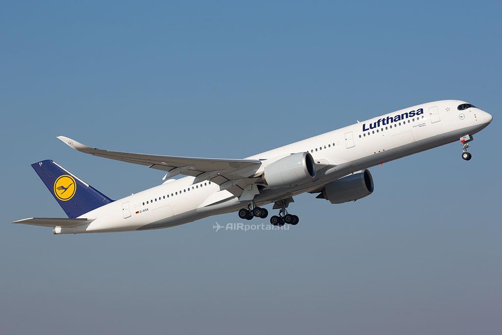 A Lufthansa Airbus A350-ese. (Fotó: AIRportal.hu) | © AIRportal.hu