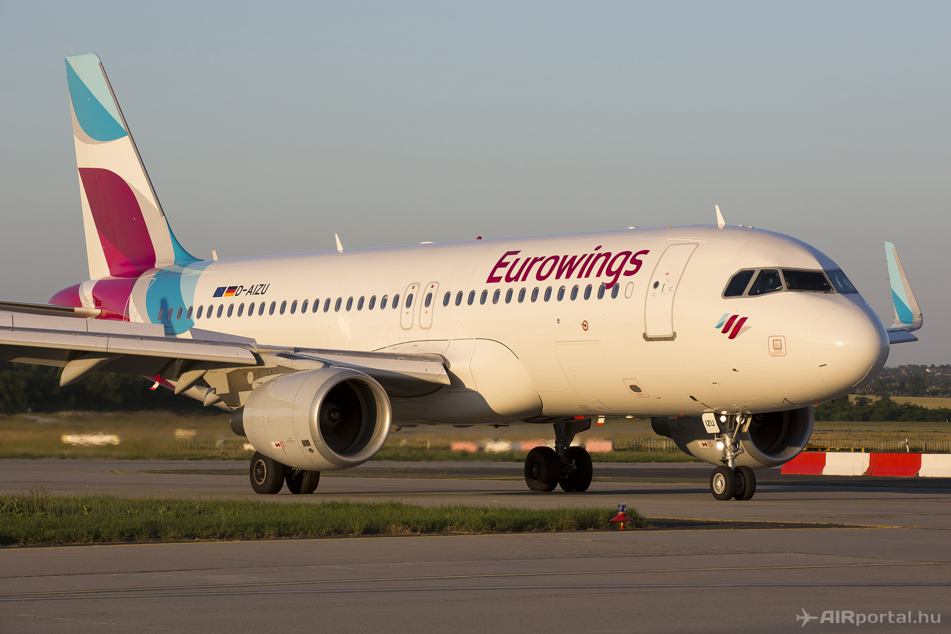 A Eurowings Airbus A320-as repülőgépe. (Fotó: AIRportal.hu) | © AIRportal.hu