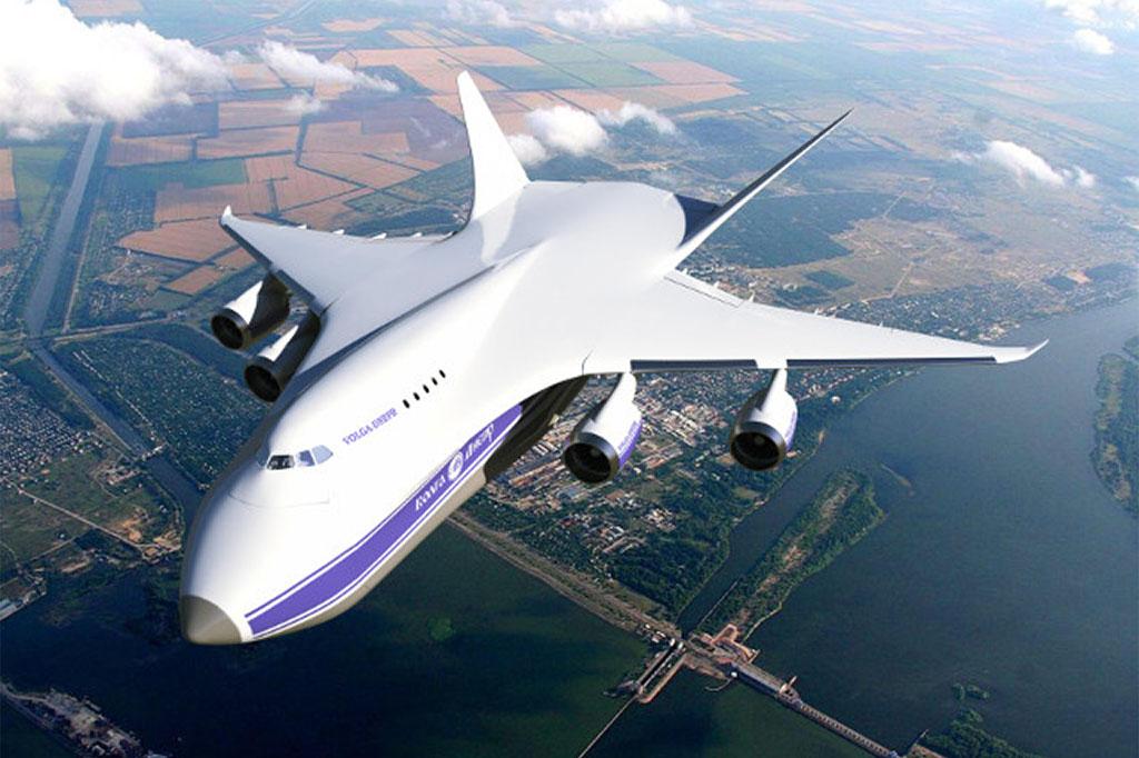 Futurisztikus, de az An-124 Ruslanok több vonását idéző grafika a jövőbeni óriás áruszállító típus koncepciójáról, ahogy a Volga-Dnepr megálmodta. (Forrás: Volga-Dnepr via Russian Aiviation Insider) | © AIRportal.hu