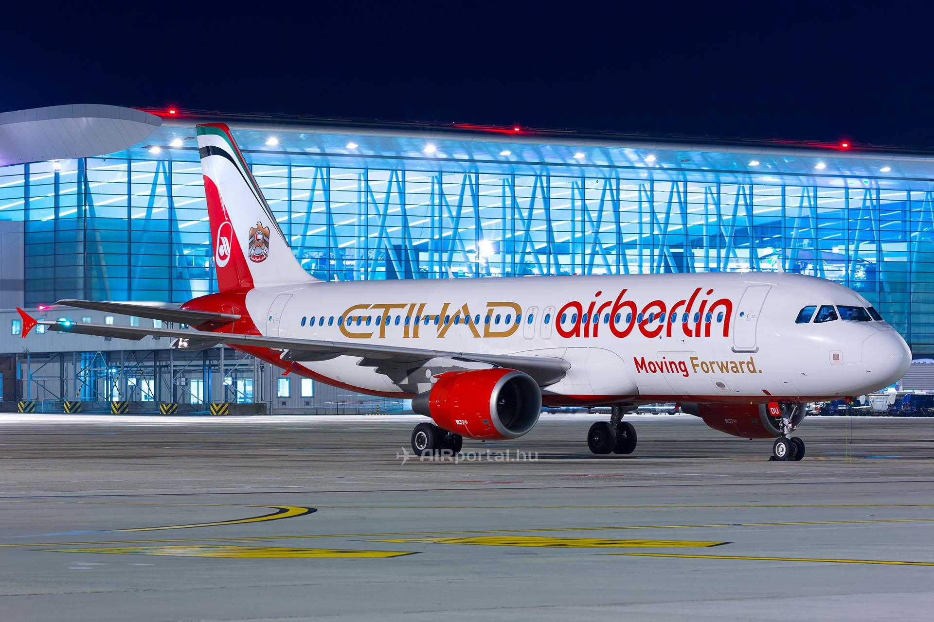 30fbfbdb674a Az egykori Air Berlin-Etihad hibrid festést viselő D-ABDU lajstromjelű A320  is a Eurowingsnél folytatja pályafutását. (Fotó: AIRportal.hu)