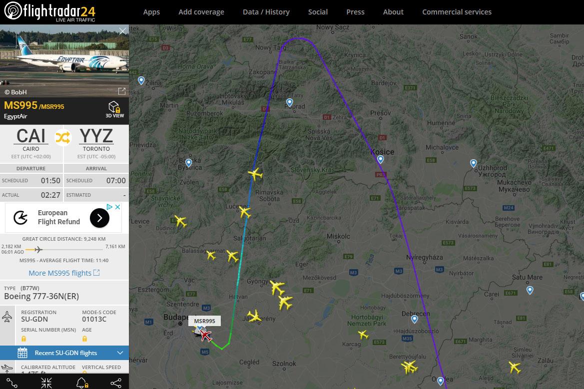 a5f8eb7af577 A SU-GDN lajstromjelű szélestörzsű repülőgép mintegy 30 perccel később,  hajnali 4 óra 52-kor biztonságosan leszállt a budapesti repülőtér 31R  (2-es) ...
